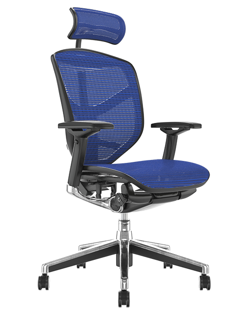 Enjoy Elite Blue Mesh Office Chair with Head Rest