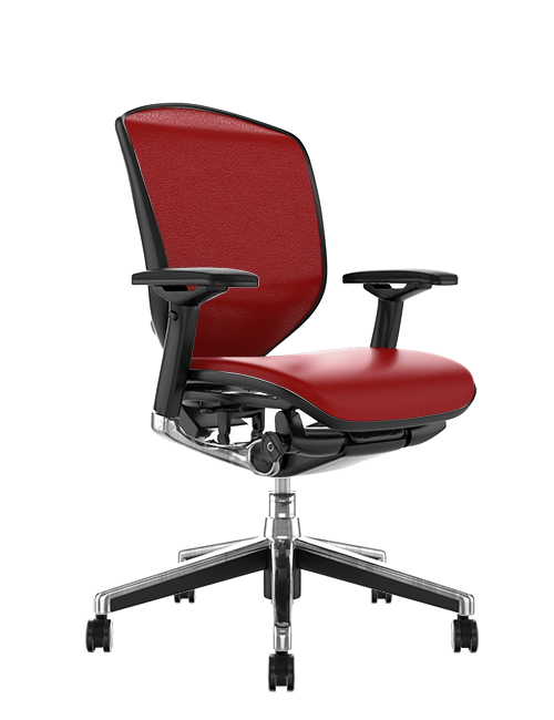 Enjoy Elite Red Leather Office Chair no Head Rest